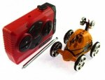 Mini samochód wyczynowy RC 1:28 - Pomarańczowy