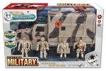 Ciężarówka wojskowa z 4 figurkami 1:18