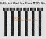 Cap Head Hex. Mechanical Screws 3*25 6P