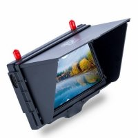 Monitor FPV FXT FX508 high brightness 5'' 800x480 5.8GHz diversity receiver monitor with DVR and HD port