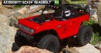 Axial SCX24 Deadbolt 1:24 4WD RTR czerwony