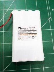 Pakiet 9,6V - 8 x AA GP 2200mAh - płaski
