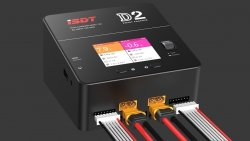 iSDT D2 Dwukanałowa ładowarka 200W / 12A - LCD IPS