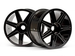 7 Spoke Black Chrome Trophy Truggy Wheel