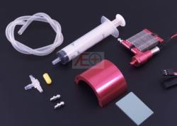 Kompletny system chłodzenia (radiator, przewody, trójnik, strzykawka, zestaw śrub, wtryskiwacz)