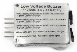 Tester pakietów LiPo 2-4S z głośnym alarmem i LED