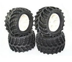 S.U.T RTR Tire Set (Pre-glue)(4Pcs)