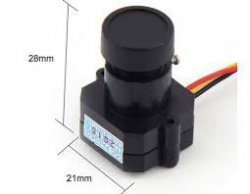 Kamera PAL mini FPV 1/3 cala Kolor CMOS 600TVL HD