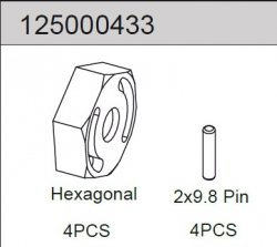 Hex w. Pin (4) 2WD