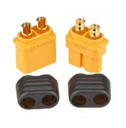 Wtyki XT60+ z osłoną - Konektor XT60 Plus - kompletne wysoko prądowe złącze - 1 paraxt-60