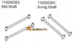 Mid & swing shaft Ansmann Terrier
