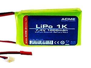 Pakiet Li-Pol 7,4V 1000 mAh do modeli ACME Hi-Skyper, AirAce III