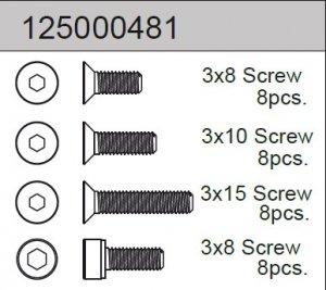 Screw Set B 2WD