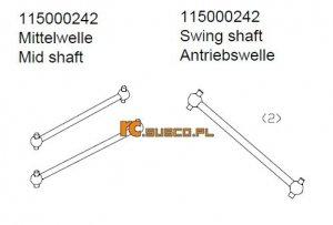 Swing shaft - Ansmann Virus