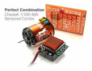 Zestaw napędowy SkyRC Cheetah1/10 + ESC 60A + silnik 17.5(regulator bezsczotkowy i silnik)