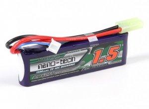 Akumulator NANO-TECH LiPo 1500mAh 7,4V 2S 20 - 40C