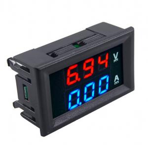 Miernik woltomierz i amperomierz 0-100V - 100A - 0.28 w obudowie