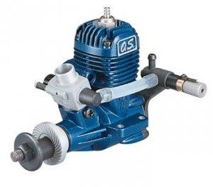 Silnik spalinowy O.S. MAX - 15LA z tłumikiem oraz z tylną regulacją