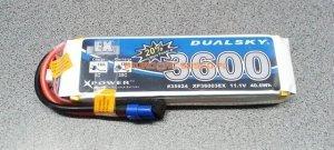 Akumulator Lipo Dualsky 3600 mAh 35C/5C 11.1V