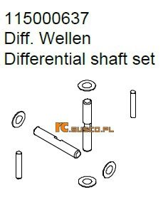 Differental shaft set - Ansmann Virus