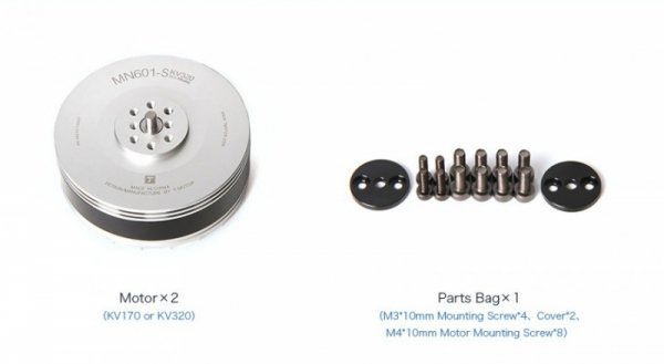 Zestaw dwóch silników bezszczotkowych T-MOTOR MN601-S 320kV