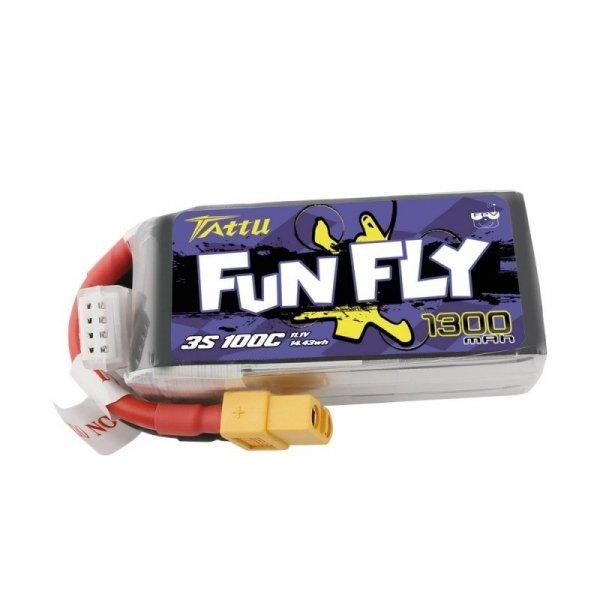 Akumulator LI-PO Tattu Funfly 1300mAh 11,1V 100C 3S1P XT60