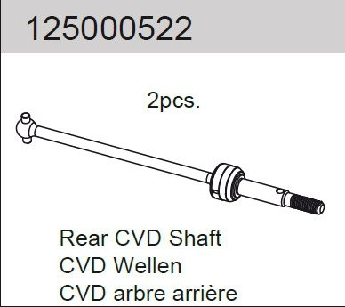Rear CVD Shaft (2) Mad Rat