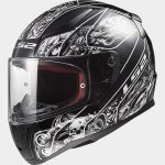KASK LS2 FF353 RAPID CRYPT BLACK WHITE