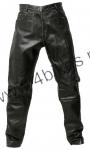 Halvarssons Stonewashed spodnie skórzane damskie