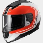 KASK LS2 FF397 VECTOR WAKE WHITE BLACK RED