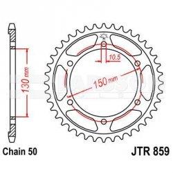 Zębatka tylna stalowa JT 859-43, 43Z, rozmiar 530 2302010 Yamaha YZF 600