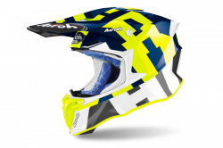 AIROH KASK OFF-ROAD TWIST 2.0 FRAME BLUE GLOSS