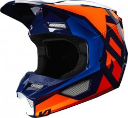 FOX KASK OFF-ROAD  V-1 LOVL ORANGE/BLUE