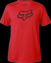 FOX T-SHIRT LEGACY FOX HEAD DARK RED