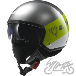 KASK LS2 OF561 WAVE BEAT FLUO GREEN