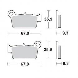 KLOCKI HAMULCOWE KH367 NITRO RACING METALICZNE: 22 YAMAHA YZ/WR '03, Kawa KXF250/450 >'04 MOTO-MASTER M094522