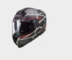 KASK LS2 FF327 CHALLENGER CT2 CARBON KONIC RED