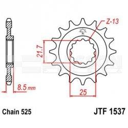 Zębatka przednia JT F1537-17, 17Z, rozmiar 525 2201032 Kawasaki Z 1000