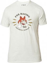 FOX T-SHIRT  CHEERFUL DESPAIR PREM LIGHT GREY