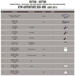 Kappa KR7700 Stelażcentralny Ktm Adventure 950/990 (03-11)