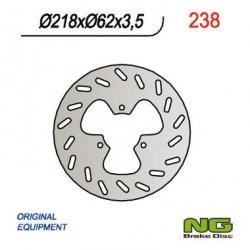 NG238 TARCZA HAMULCOWA DERBI 50/125, GAS GAS 125/450 (218X62X3,5) 3 OTWORY ŚR.10,5