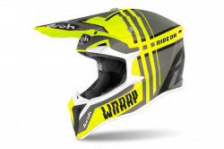 AIROH KASK OFF-ROAD WRAAP BROKEN YELLOW MATT