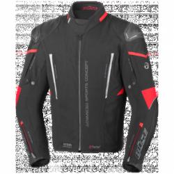 BUSE Kurtka motocyklowa Rocca czarna/czerwona