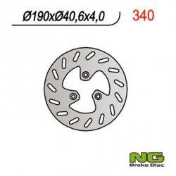 NG340 TARCZA HAMULCOWA PGO 50/110/125/150 (190x40,6x4)