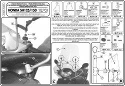 GIVI A186A MOCOWANIE SZYBY HONDA SH 125-150