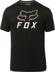 FOX T-SHIRT HERITAGE FORGER TECH BLACK/BLACK