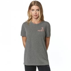 FOX T-SHIRT LADY LIVE FAST HEATHER GRAPHITE
