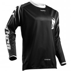 THOR BLUZA SECTOR ZONES S8 OFFROAD JERSEY BLACK =$
