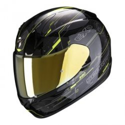 SCORPION KASK INTEGRALNY EXO-390 BEAT BLACK-NEON Y