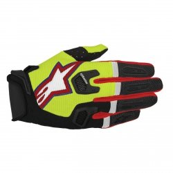 RĘKAWICE ALPINESTARS RACEFEND S7 YELLOWFLUO/BL/RED